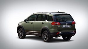 Tata Hexa Safari Edition rear three quarters