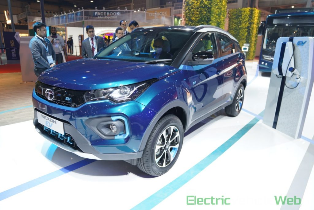 Tata Nexon EV front three quarter view 1 - Auto Expo 2020