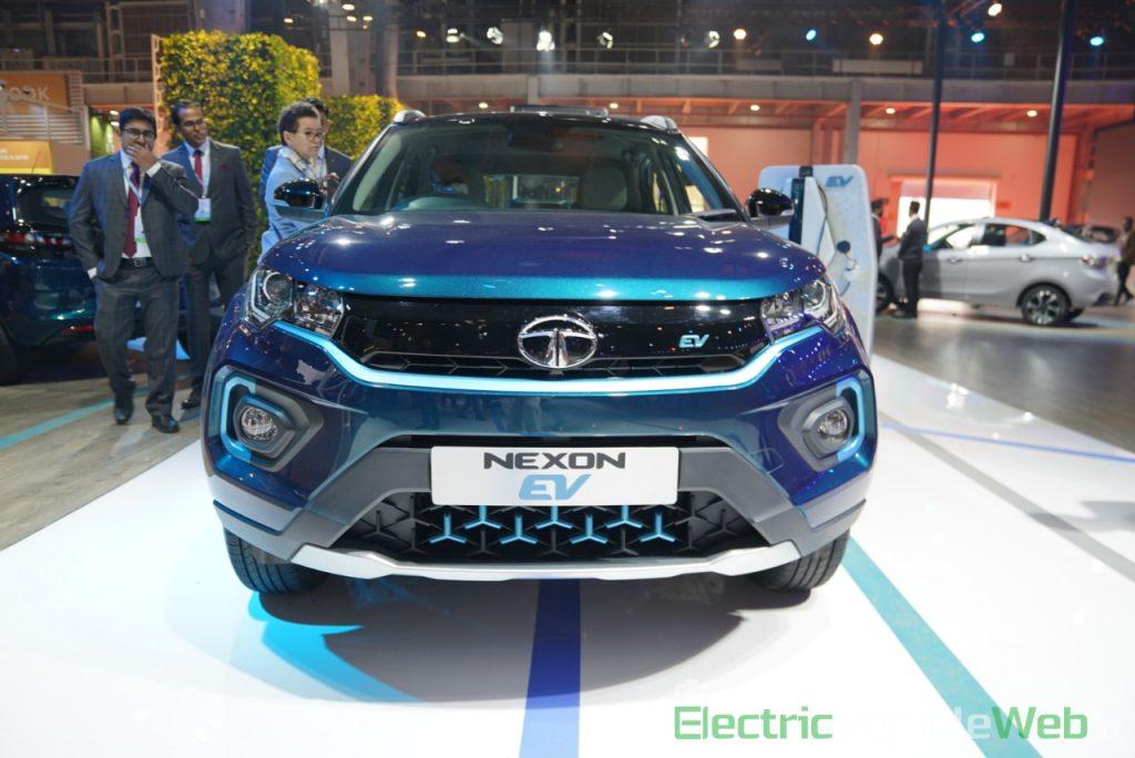 Tata Nexon EV front view - Auto Expo 2020