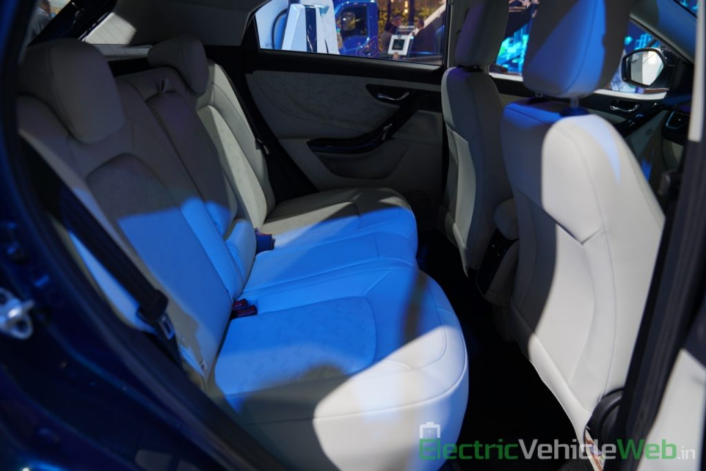 Tata Nexon EV rear seats - Auto Expo 2020
