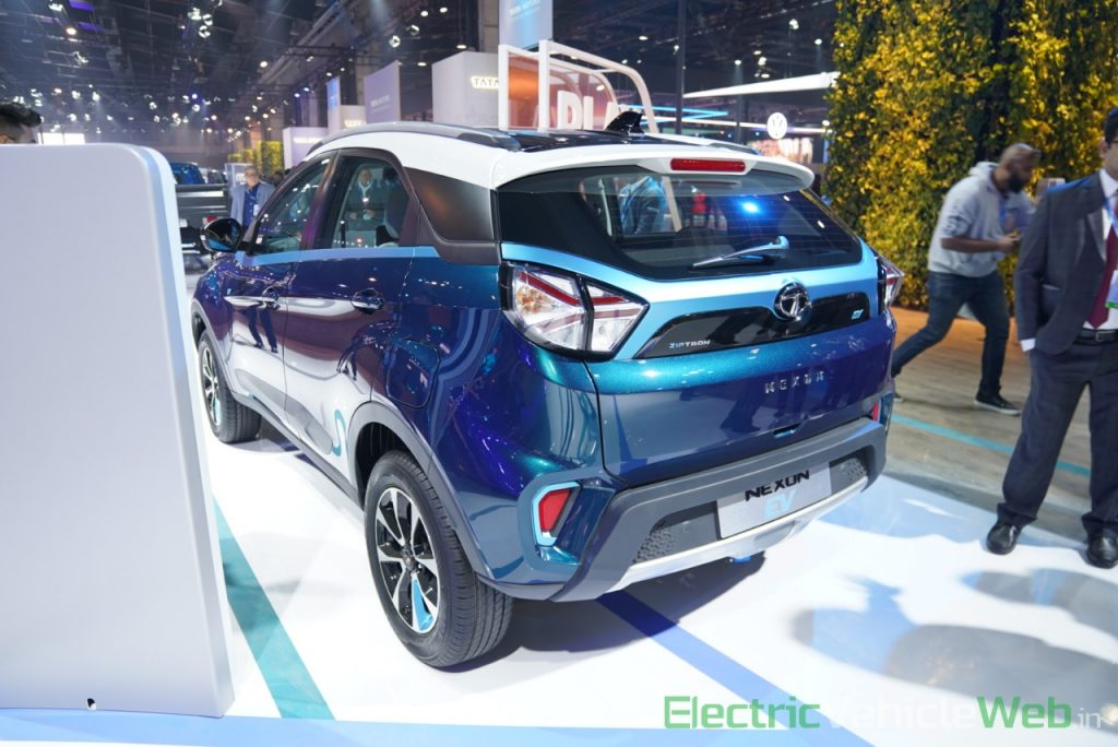Tata Nexon EV rear three quarter view 2 - Auto Expo 2020