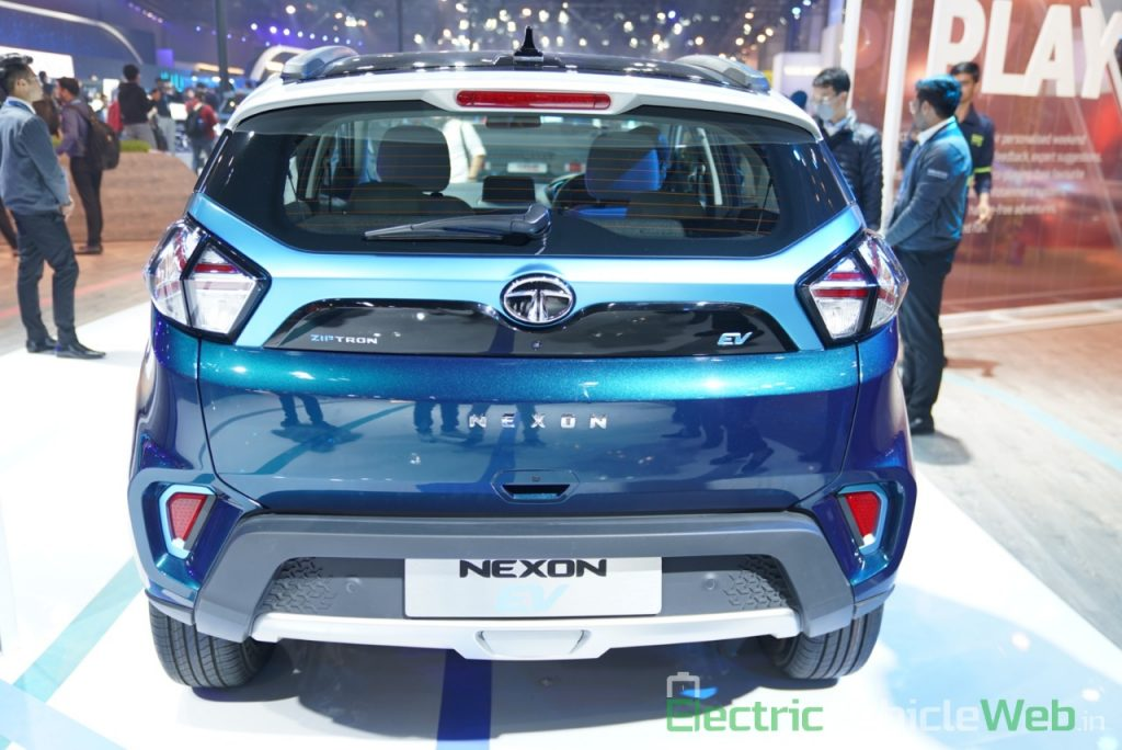 Tata Nexon EV rear view - Auto Expo 2020