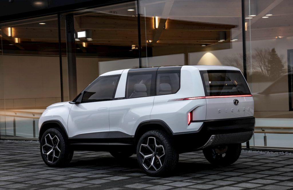 Tata Sierra EV Concept rear quarters