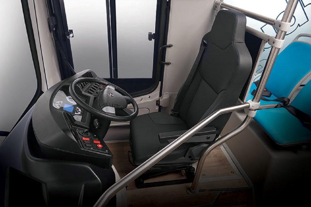 Tata Starbus EV Low Entry Electric Bus interior - Auto Expo 2020