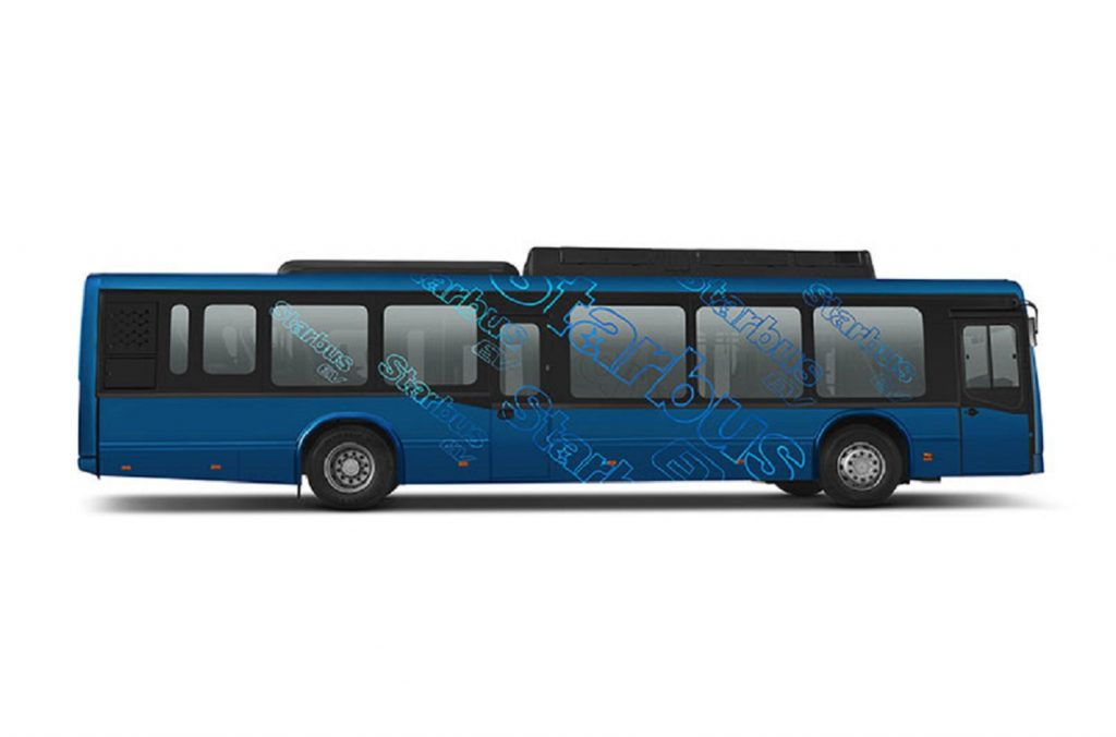 Tata Starbus EV Low Entry Electric Bus side view - Auto Expo 2020
