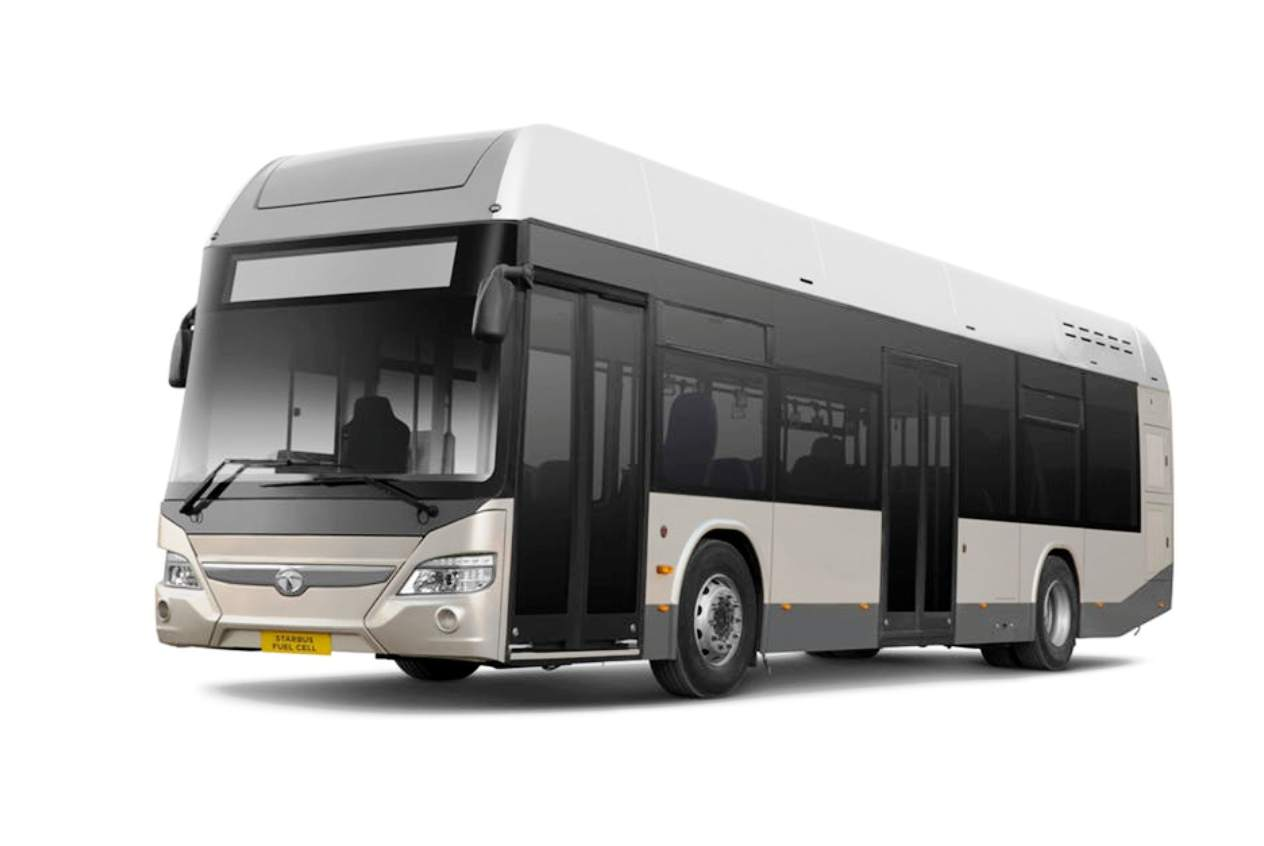 Tata Starbus Fuel Cell 30 front three quarter view
