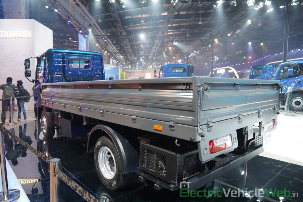 Tata Ultra Electric Truck rear three quarter view - Auto Expo 2020