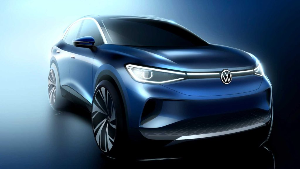VW ID.4 electric crossover-SUV sketch