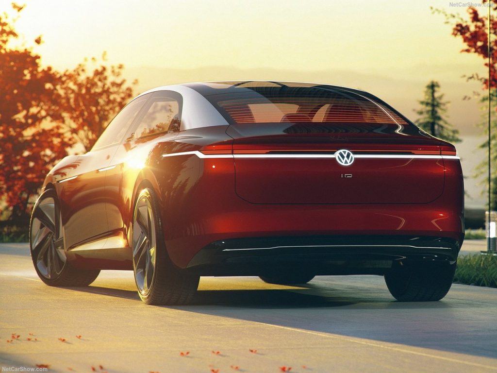Volkswagen ID Vizzion Concept rear three quarter view