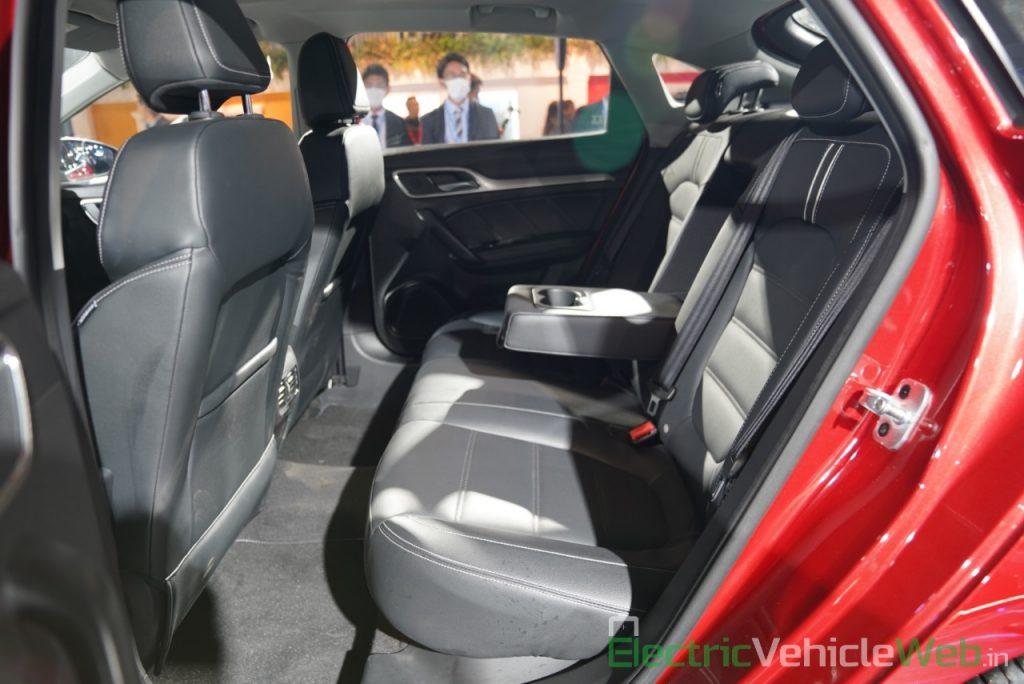 eMG 6 PHEV rear seats - Auto expo 2020