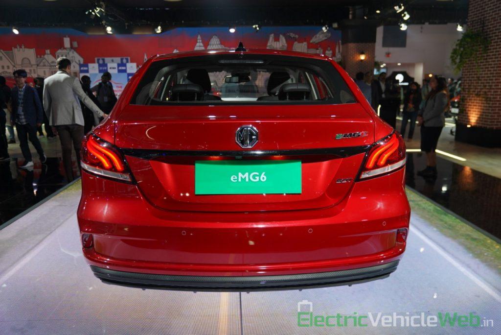 eMG 6 PHEV rear view - Auto expo 2020