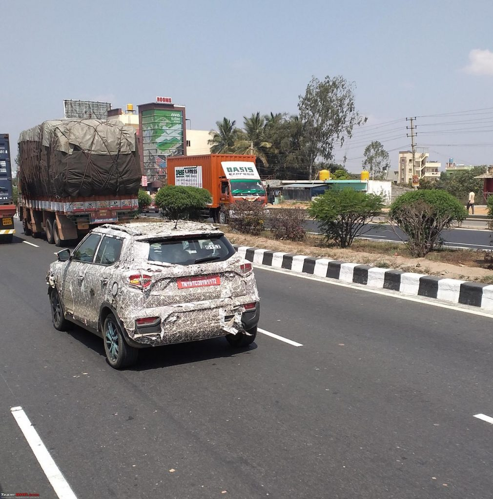 eXUV300 Mahindra XUV300 Electric spotted testing rear