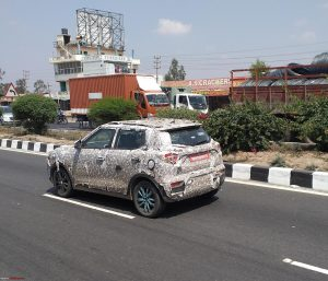 eXUV300 Mahindra XUV300 Electric spotted testing side