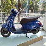 Bajaj Chetak electric blue colour showroom