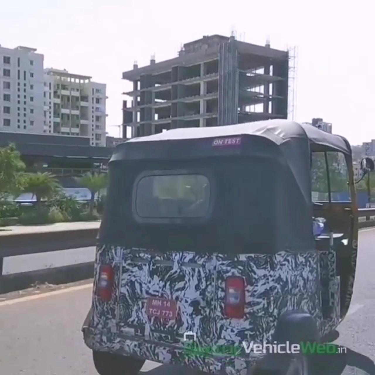 Bajaj electric rickshaw (Bajaj RE EV) spy shot