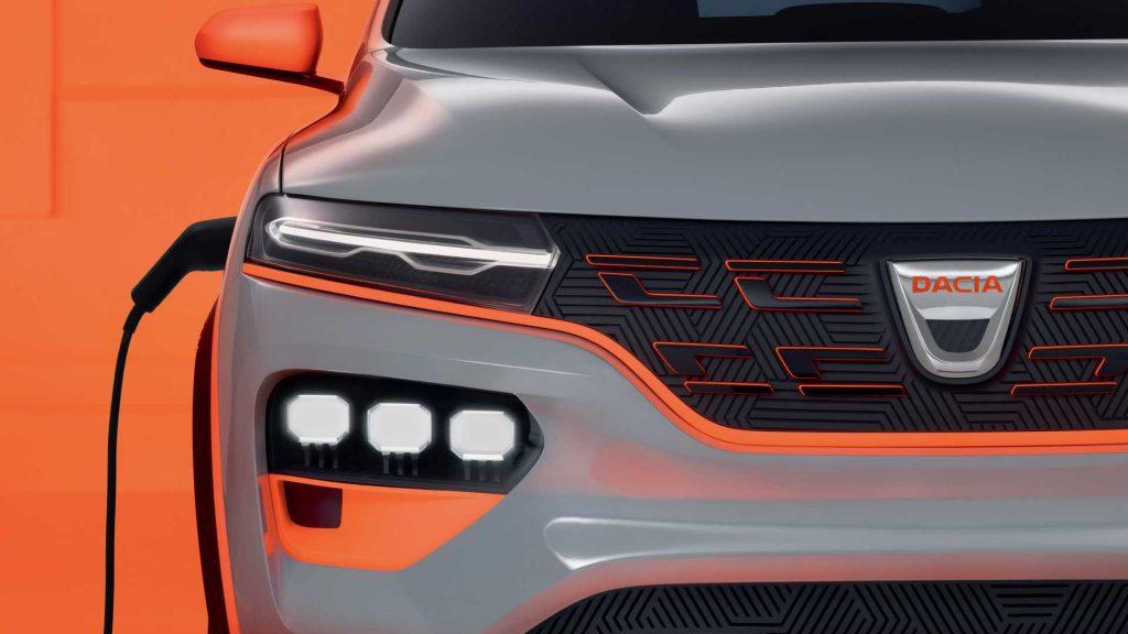 Dacia Spring Concept grille headlamp DRL