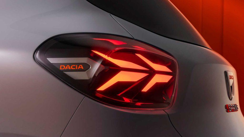 Dacia Spring Concept taillight signature LED