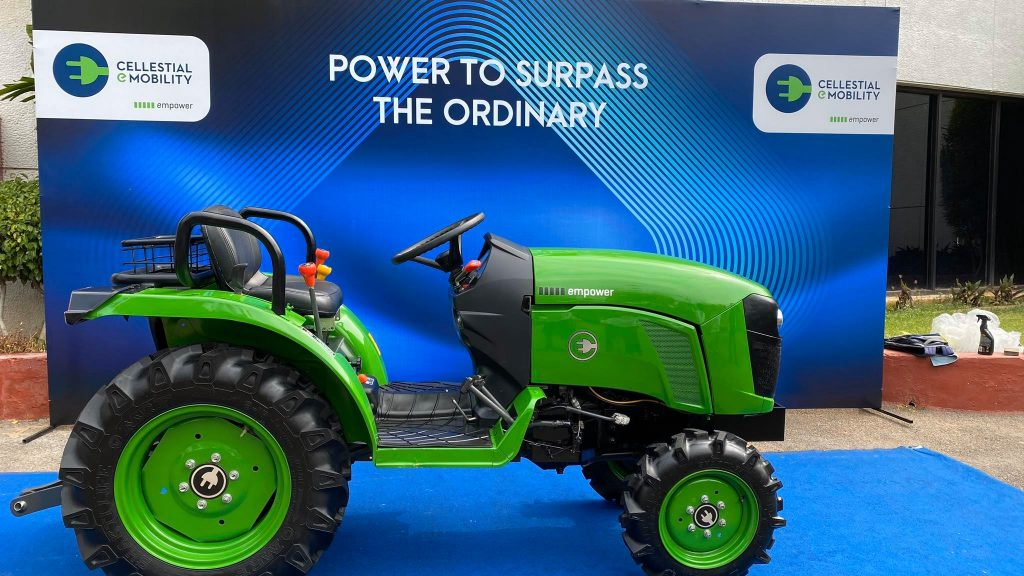 Electric Tractor from Hyderabad-based Cellestial E-Mobility