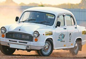 Hindustan Ambassador EV front three quarter view