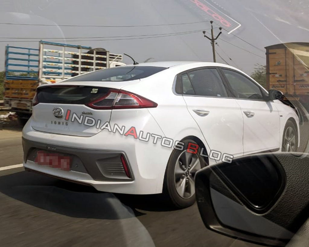 Hyundai Ioniq electric car spotted in India