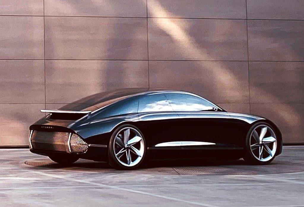 Hyundai Prophecy unveiled - rear three quarter view 2