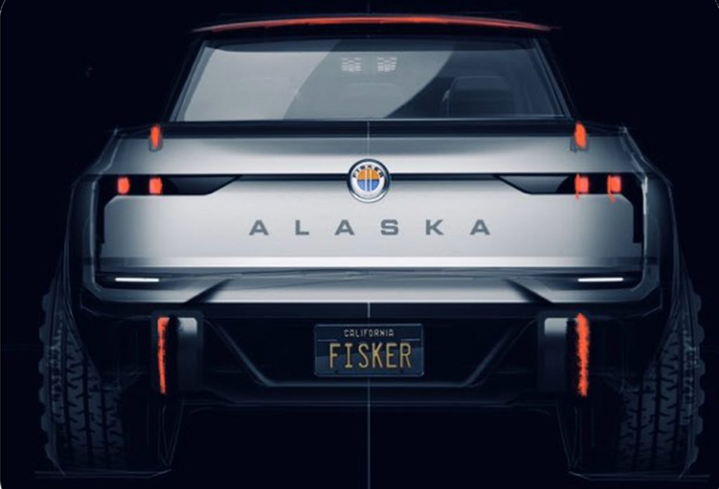 Karma Alaska electric pickup truck rear view