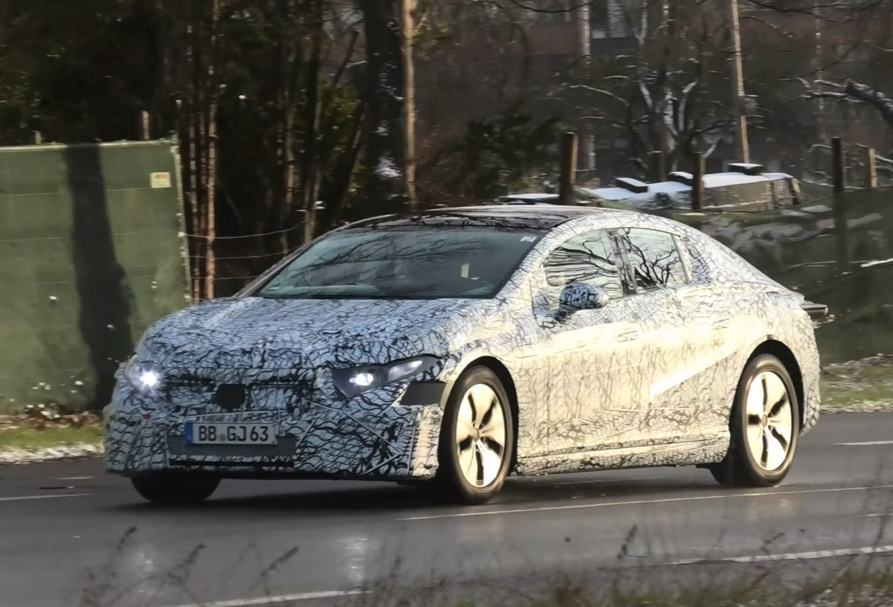 Mercedes EQE spotted testing along with EQS