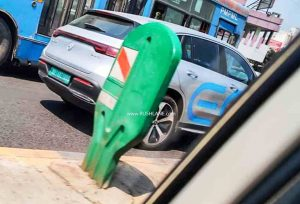 Mercedes EQC spied in pune