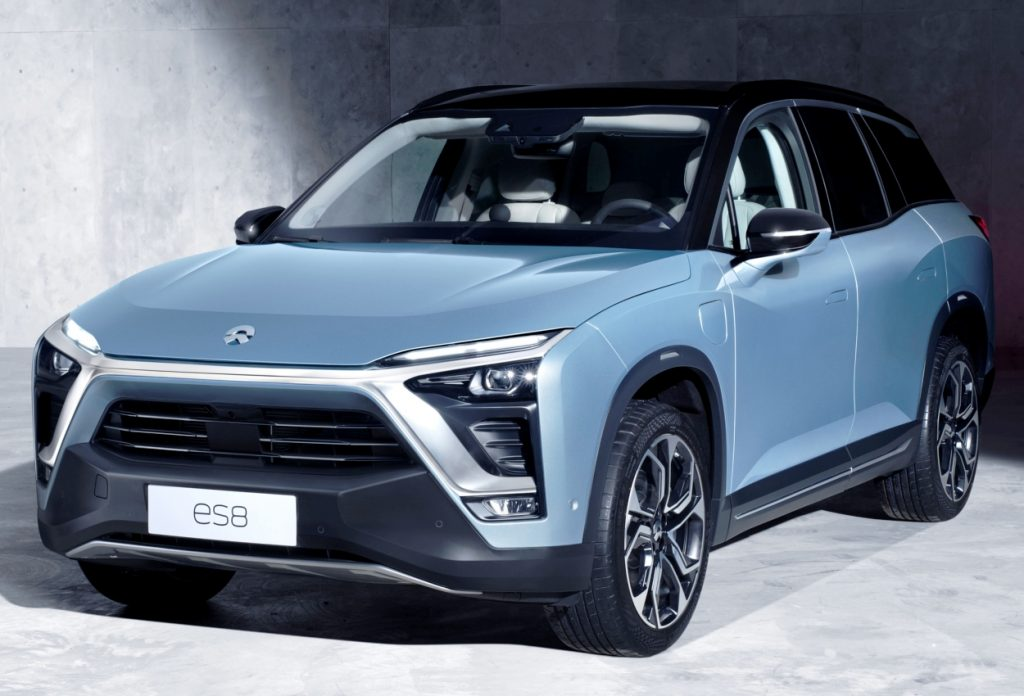 Nio ES8 front three quarter view