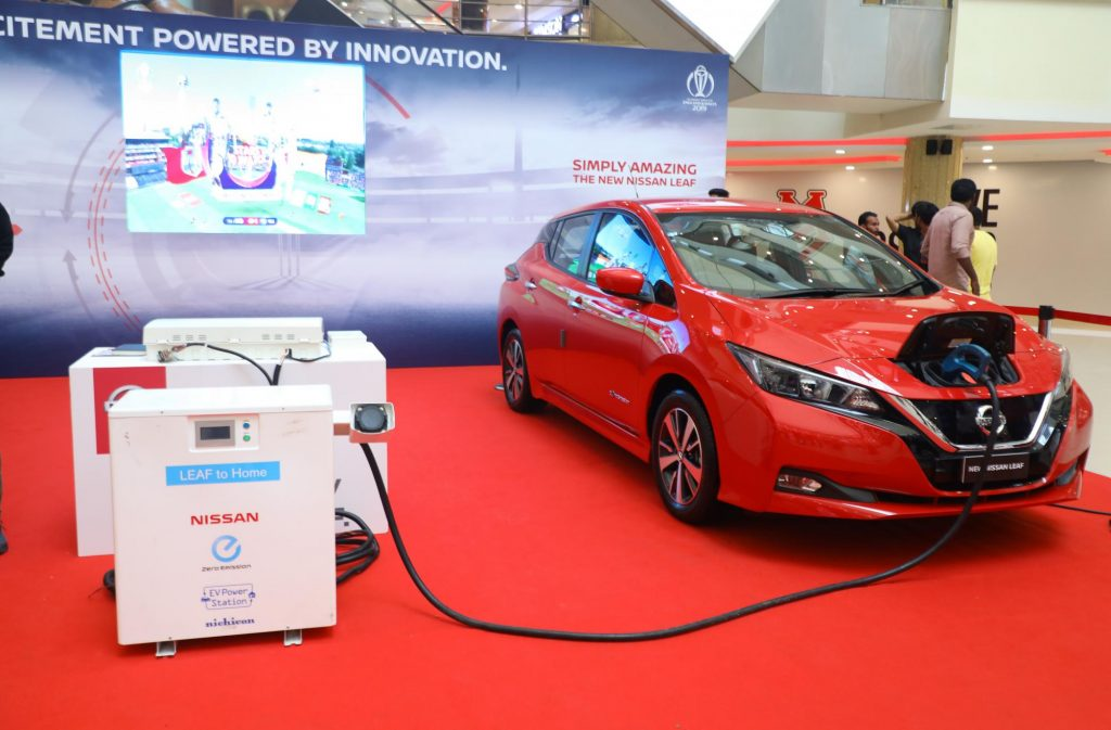 Nissan Leaf electric car in India