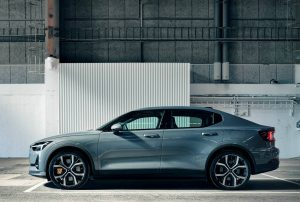 Polestar 2 Performance Pack side view