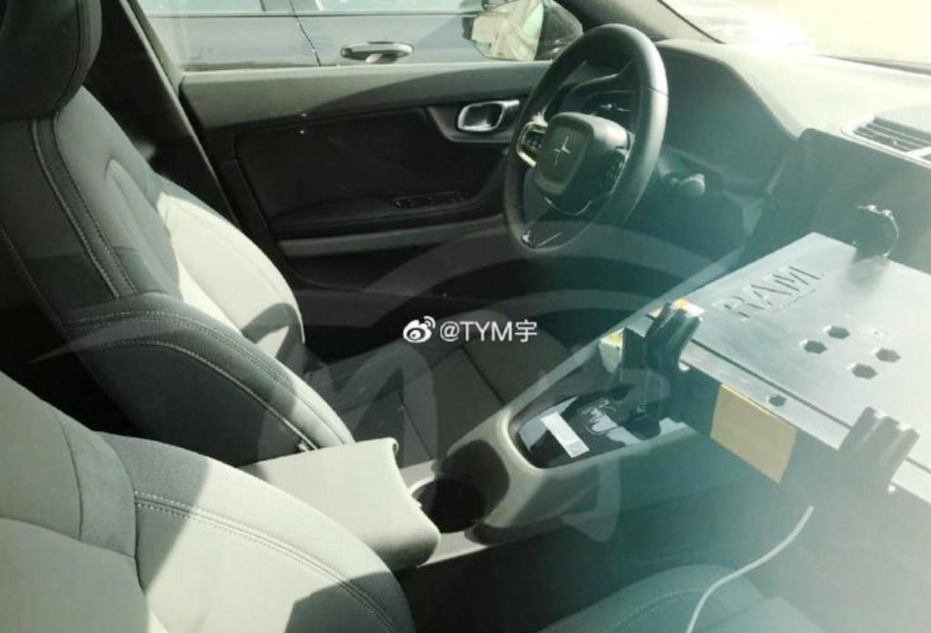 Polestar 2 spotted charging interior