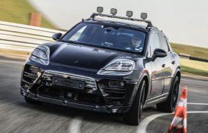 Porsche Macan Electric front test prototype