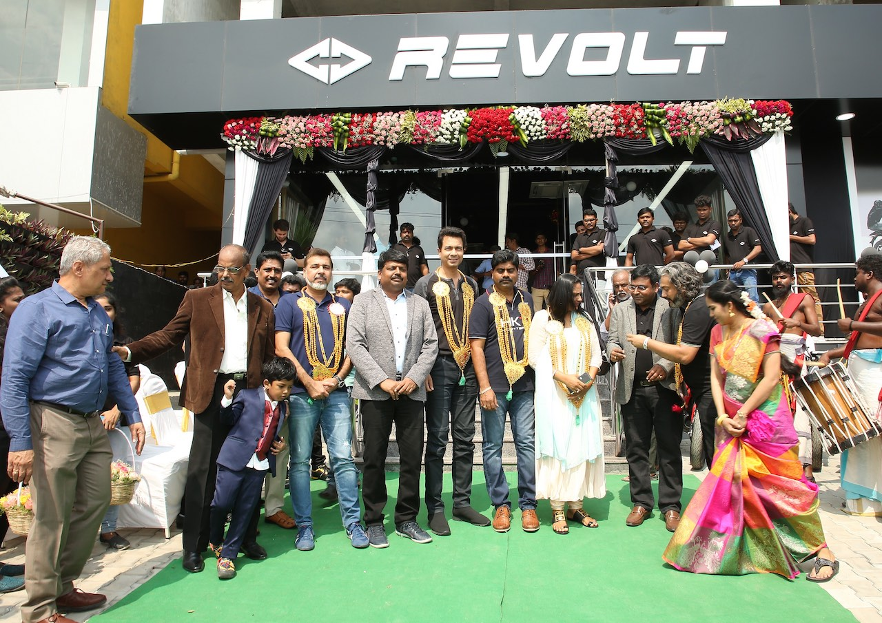 Rahul Sharma Revolt Motors at the inauguration of the Chennai dealership