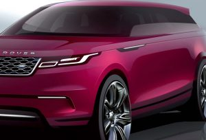 Range Rover Velar Sketch front three quarter view
