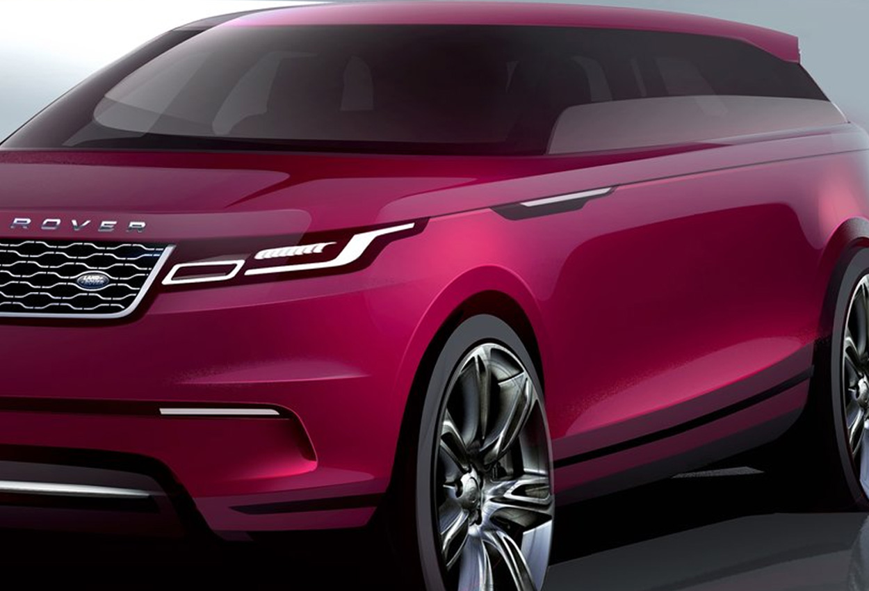Range Rover Velar Sketch front three quarter view