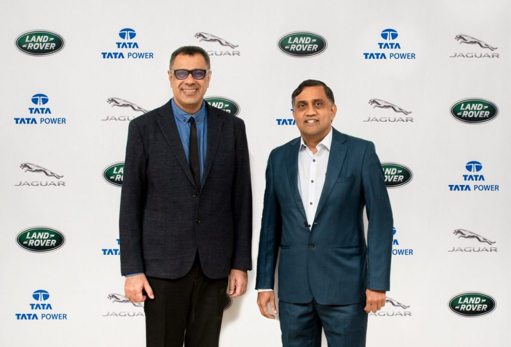 Rohit Suri, President and MD JLR India and Ramesh Subramanyam, CFO & President - New Business Tata Power Company Limited