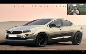 Tata Motors sedan Peregrin X452 rendering