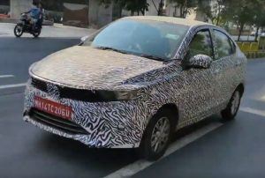 Tata Tigor EV spied front three quarter view