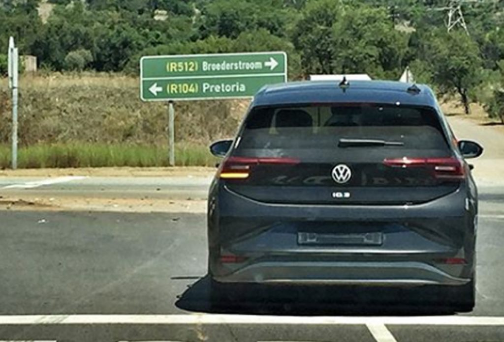 Volkswagen ID.3 spied testing rear view