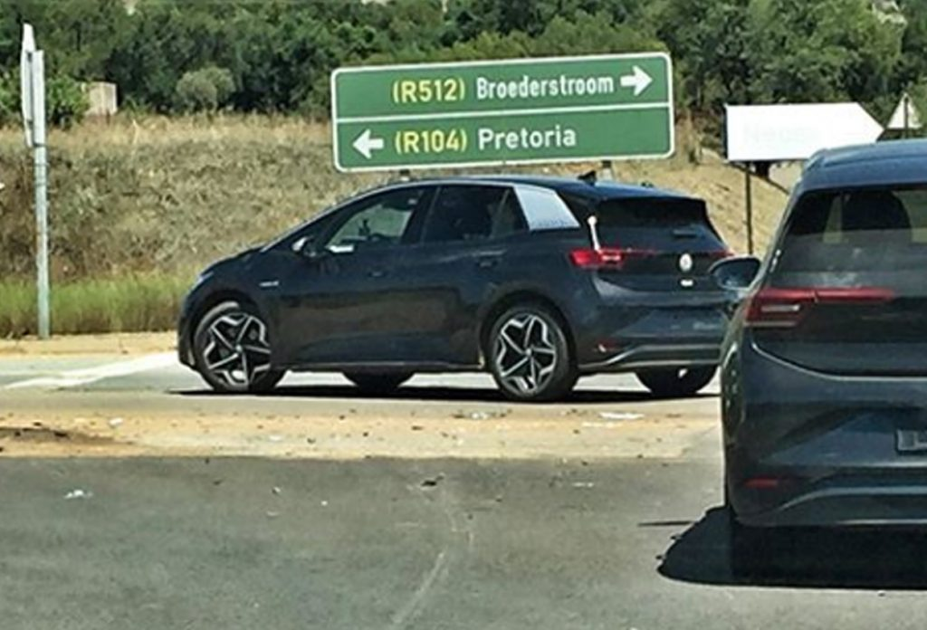Volkswagen ID.3 spied testing side view 1