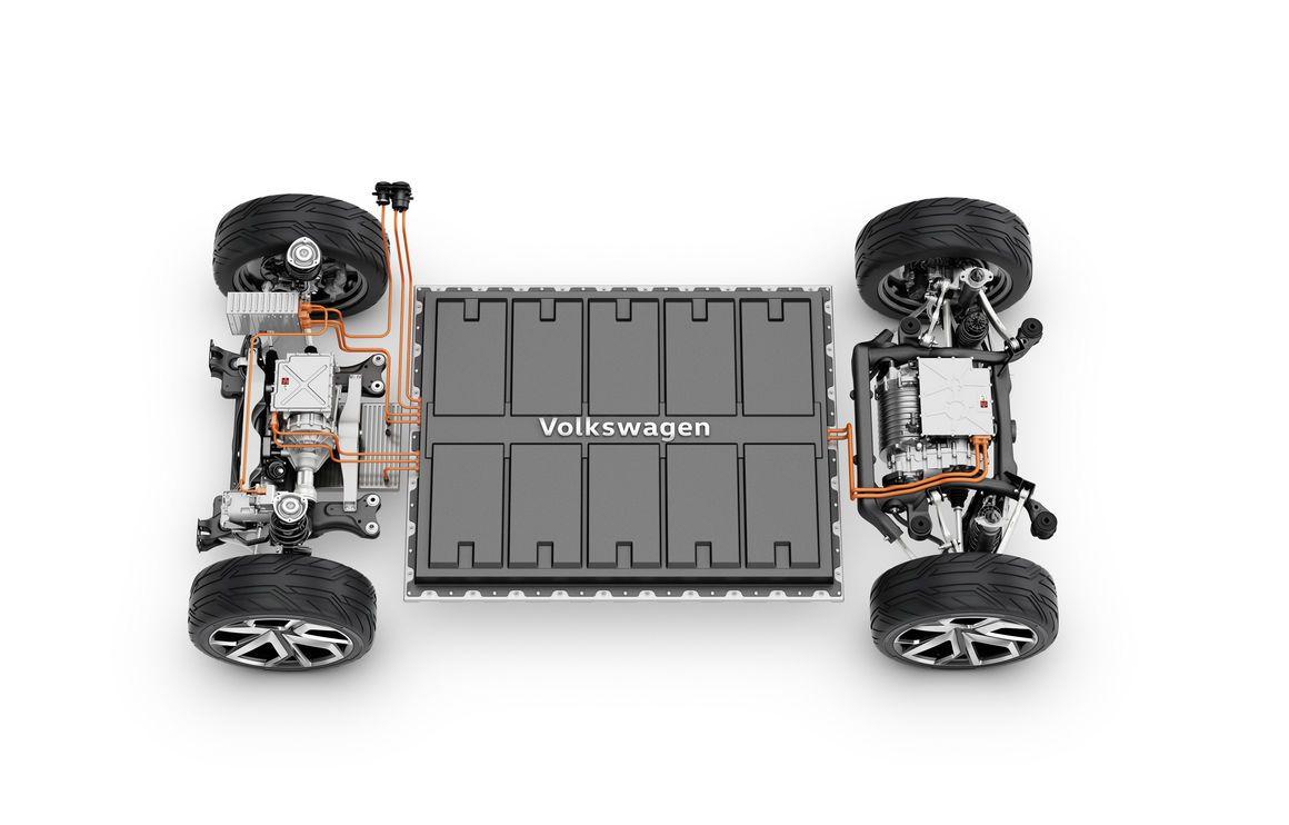 Volkswagen MEB platform top view