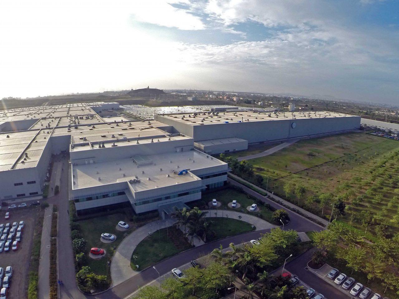 Volkswagen car plant in Pune, India