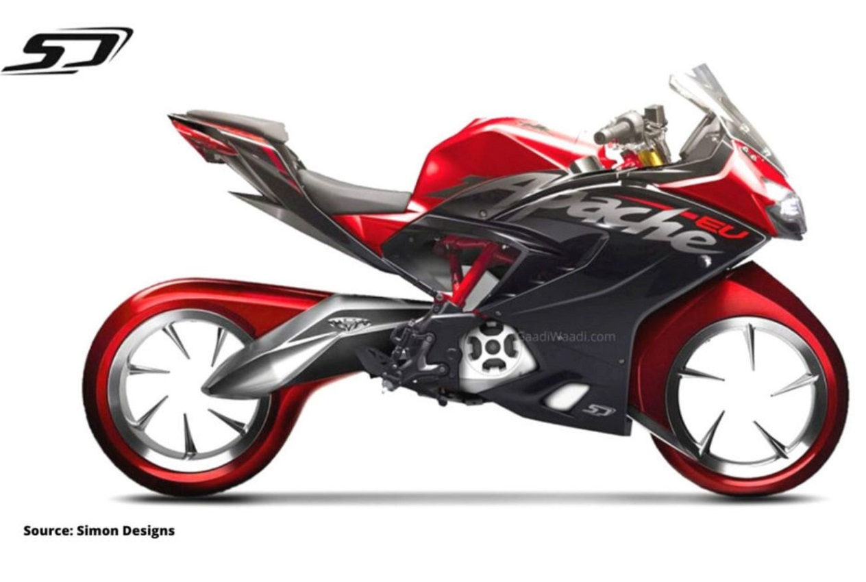 tvs apache rr310 electric rendering