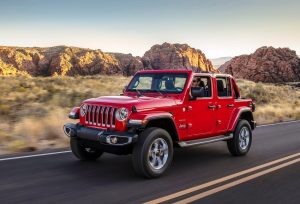 2020 Jeep Wrangler Unlimited front three quarter view