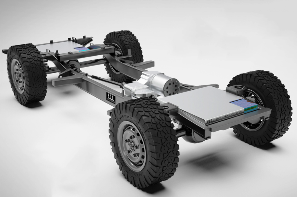 ECD Automotive Design Electric Defender chassis