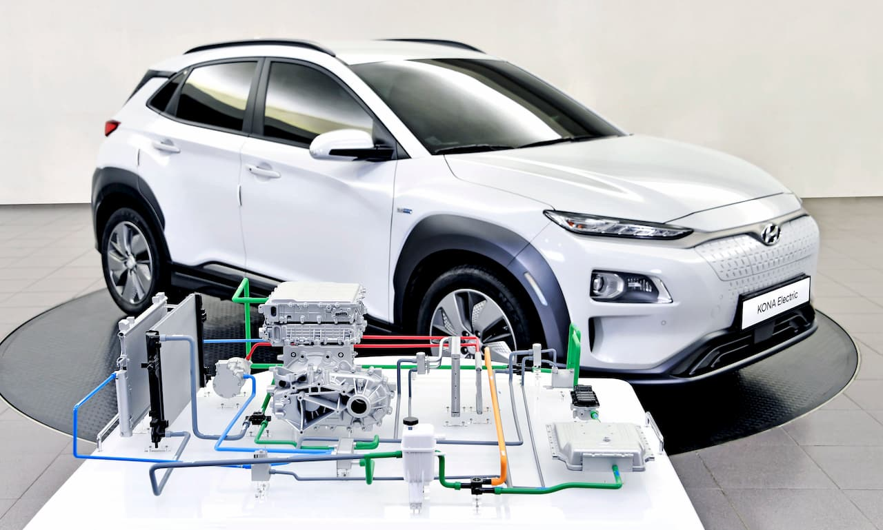 Hyundai Kona EV heat pump official image