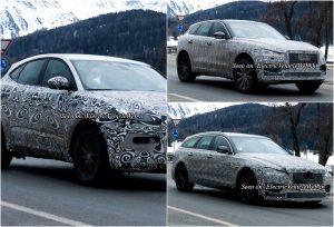 Jaguar XF Sportbrake E-Pace & F-Pace testing collage