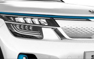 Kia Seltos EV front zoom render