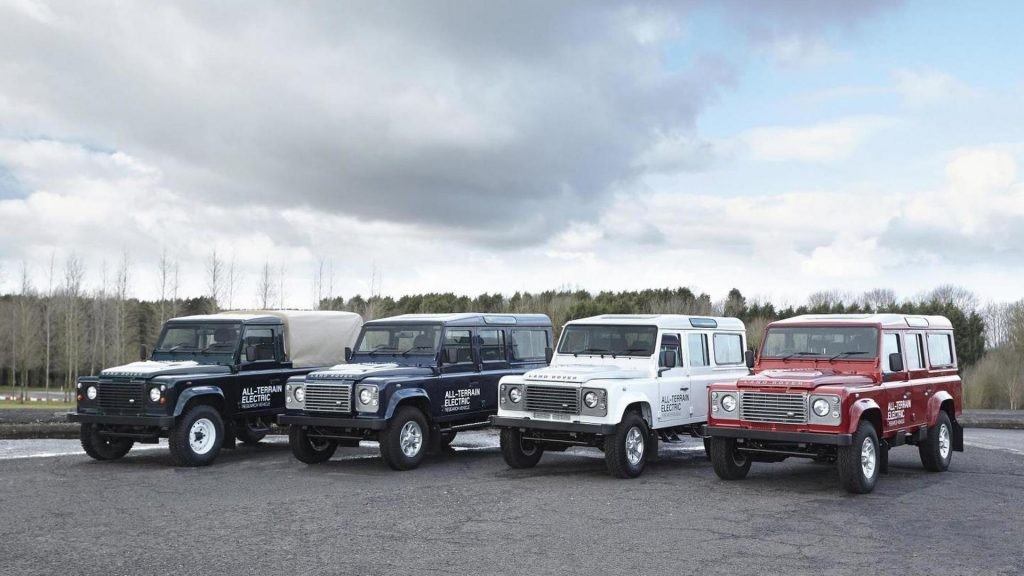Land Rover Defender electric prototypes 2013